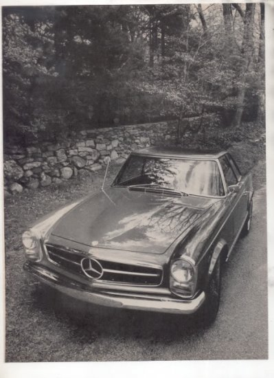 1967 1968 MERCEDES BENZ 250 SL ROAD TEST AD 6-PG