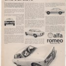 1965 1966 ALFA ROMEO VINTAGE CAR AD