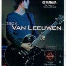 YAMAHA AES1500 GUITAR AD TROY VAN LEEUWEN 1998
