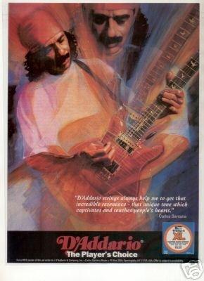 SANTANA D'ADDARIO PROMO AD 1995