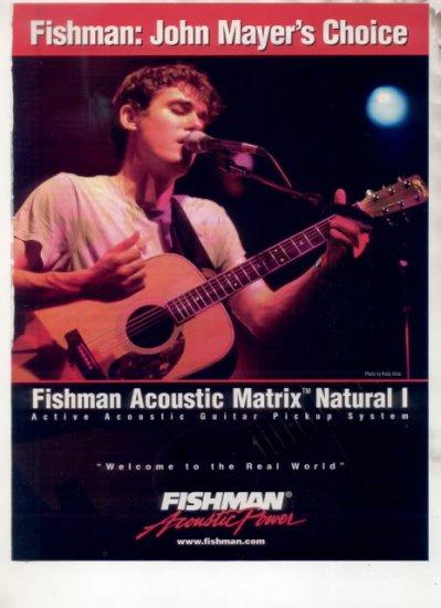 * JOHN MAYER FISHMAN GUITAR AD