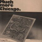 * 1974 CHICAGO VII POSTER TYPE PROMO AD 2-PAGE