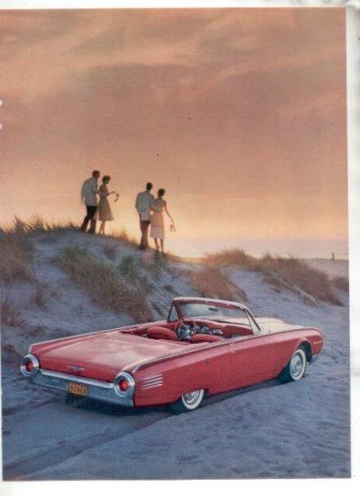 * 1961 FORD THUNDERBIRD PHOTO PRINT AD 2-PAGE