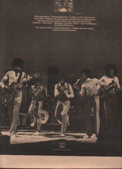 * 1974 MICHAEL JACKSON  5 FIVE POSTER TYPE AD