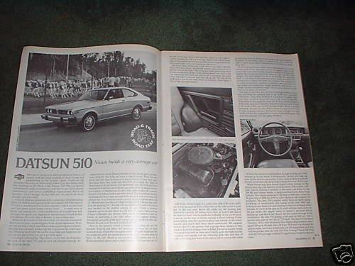 1977 DATSUN 510 ROAD TEST 4-PAGE