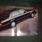 1984 1985 HONDA ACCORD SE-i SEi VINTAGE CAR AD 2-PAGE