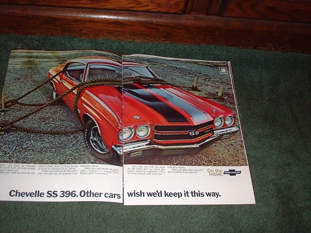 1970 CHEVY MONTE CARLO CHEVELLE SS 396  CAR AD 6-PAGE