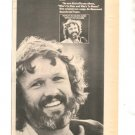 1975 KRIS KRISTOFFERSON WHOS TO BLESS PROMO AD