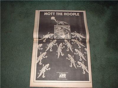 1970 MOTT THE HOOPLE POSTER TYPE AD
