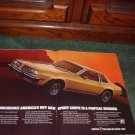 1977 PONTIAC SUNBIRD VINTAGE CAR AD 2-PAGE