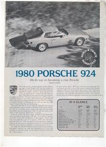 1980 1981 PORSCHE 924 ROAD TEST AD 3-PAGE
