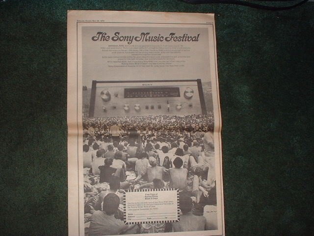 * 1970 SONY 6040 RECEIVER POSTER TYPE PROMO AD
