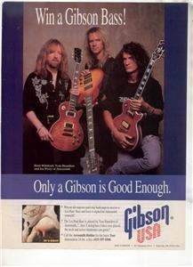 1994 AEROSMITH PERRY HAMILTON WHITFORD GIBSON GUITAR AD