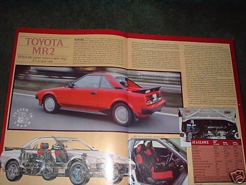 1984 TOYOTA MR2 ORIGINAL ROAD TEST 5-PAGE