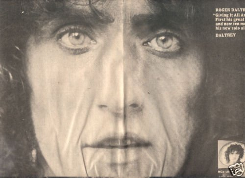ROGER DALTREY SOLO LP POSTER TYPE AD 1973