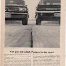 1963 PONTIAC TEMPEST VINTAGE CAR AD