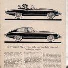 1963 1964 JAGUAR XK-E XKE XK E VINTAGE CAR AD