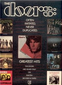 1980 THE DOORS GREATEST HITS POSTER TYPE AD