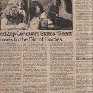 * 1975 LED ZEPPELIN JOHN BONHAM ARTICLE AD WRITE UP