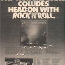 1980 PAT TRAVERS BAND CRASH & BURN POSTER TYPE TOUR AD