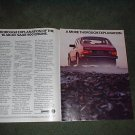 1986 SAAB 900S 900 TURBO VINTAGE CAR AD 2-PAGE