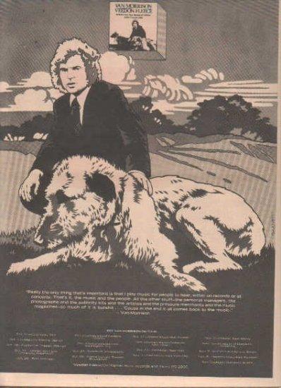 * 1974 VAN MORRISON VEEDON FLEECE POSTER TYPE TOUR AD