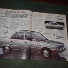 1982 1983 RENAULT ALLIANCE CAR AD 2-PAGE