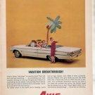 * 1962 AVIS RENT A CAR FORD GALAXIE CAR AD