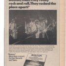 BOSTON MORE THAN A FEELING 1ST LP PROMO AD 1977