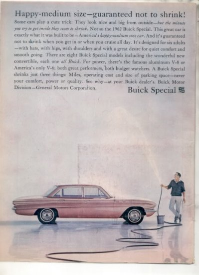 * 1962 BUICK SPECIAL PHOTO PRINT AD