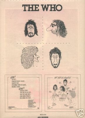 THE WHO  PROMO AD 1975 BY NUMBERS