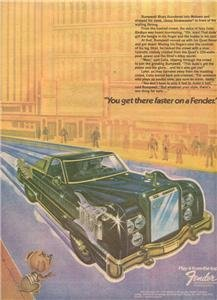 1974 FENDER GUITAR AMP MOUSE ROLLS POSTER TYPE AD