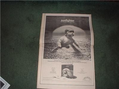 1972 SUNFIGHTER GRACE SLICK PAUL KANTNER POSTER TYPE AD