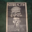 * 1970 KANNIBAL KOMIX POSTER TYPE PROMO AD
