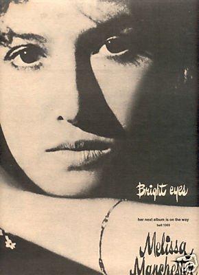 MELISSA MANCHESTER BRIGHT EYES PROMO AD 1974