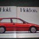 1989 HONDA CIVIC Si VINTAGE CAR AD 2-PAGE