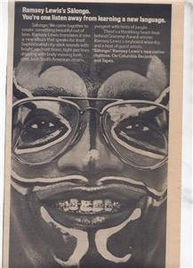 1976 RAMSEY LEWIS SALONGO POSTER TYPE AD