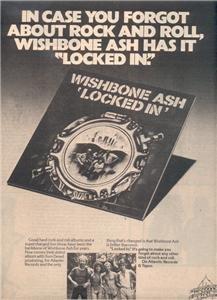 1976 WISHBONE ASH LOCKED IN POSTER TYPE  AD