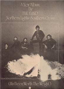 1976 THE BAND NORTHERN LIGHTS POSTER TYPE AD