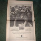 * 1973 RIVER CITY  POSTER TYPE PROMO  AD
