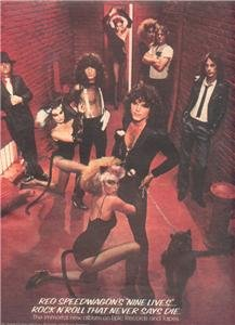 1979 REO SPEEDWAGON NINE LIVES POSTER TYPE AD