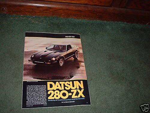 1978 DATSUN 280 ZX 280ZX VINTAGE PREVIEW TEST CAR AD