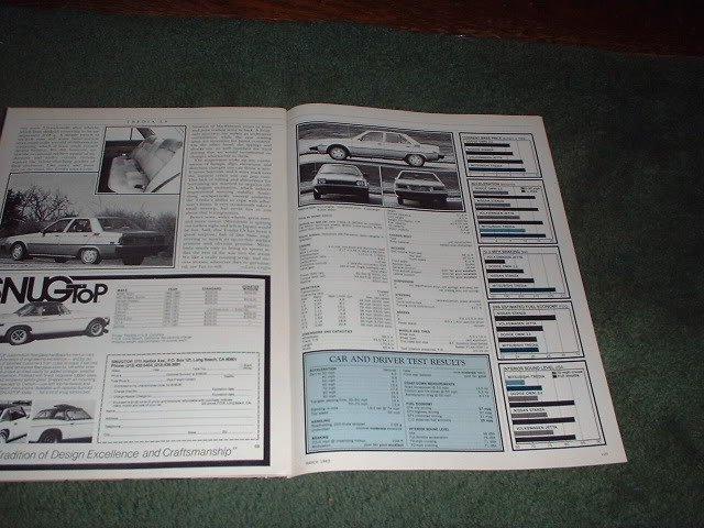 1983 MITSUBISHI TREDIA LS ROAD TEST CAR AD 5-PAGE