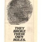 1980 CHICAGO THEY BROKE POSTER TYPE AD