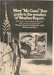 1978 WEATHER REPORT MR GONE POSTER TYPE AD
