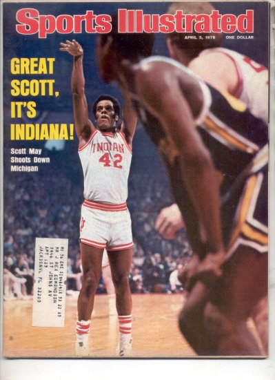 * 1976 SPORTS ILLUSTRATE�D INDIANA SCOTT MAY