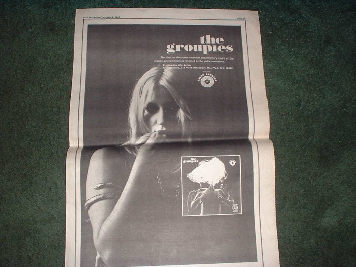 * 1969 THE GROUPIES POSTER TYPE PROMO AD