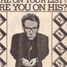 1978 ELVIS COSTELLO MY AIM IS TRUE POSTER TYPE AD