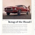 1968 FORD MUSTANG SHELBY COBRA 350/500-KR AD
