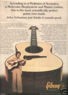 GIBSON JOHN SEBASTIAN PROMO AD 1977